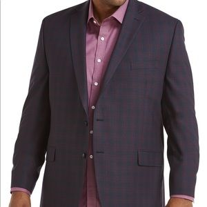 NWOT Michael Kors Plaid Check Purple Jacket, 46R